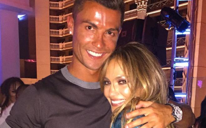 Cristiano Ronaldo, junto a Jennifer L�pez
