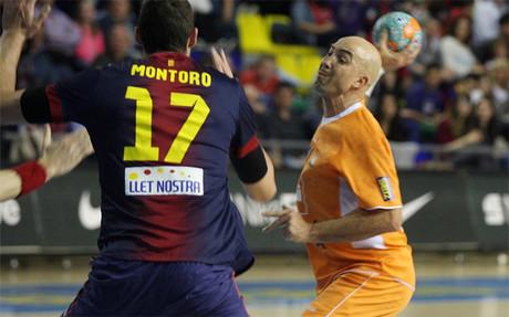 Demetrio Lozano en un partido frente al Bar�a hace dos campa�as