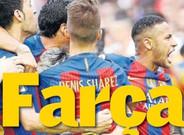 El diario 'Superdeporte' ataca este lunes a los jugadores del Bar�a en su portada