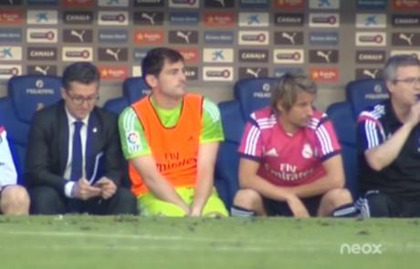 Fabio Coentrao and Iker Casillas