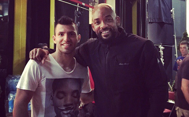 El Kun Agüero y Will Smith en Londres