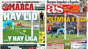 Las portadas de los dos diarios deportivosde Madrid