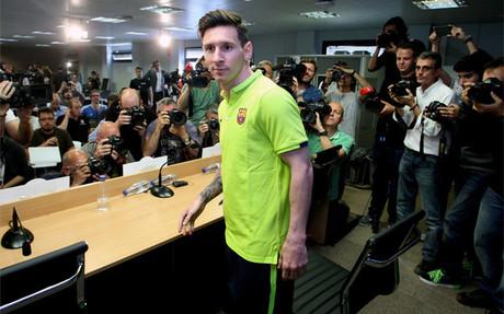 Leo Messi habl� del duelo ante el Bayern de M�nich en rueda de prensa