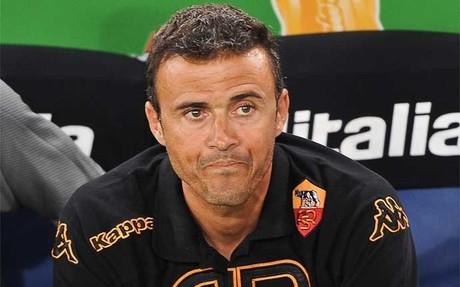 Luis Enrique Mart�nez durante su etapa al frente de la AS Roma