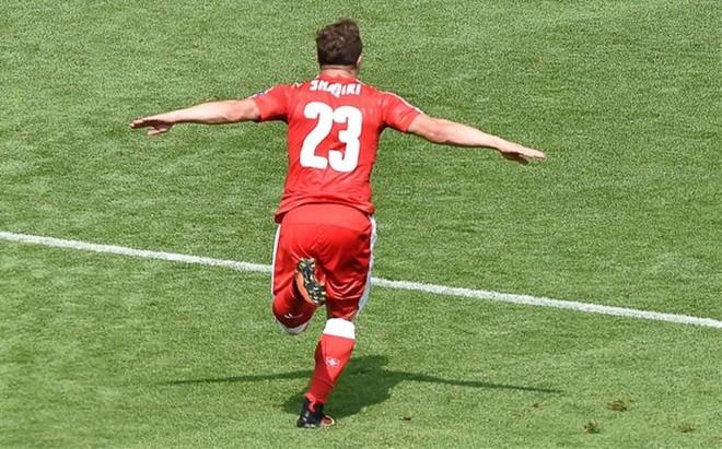Shakira se apropia del gol de Shaqiri