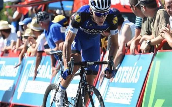 David de la Cruz tuvo su d�a con la victoria de etapa y el maillot de l�der