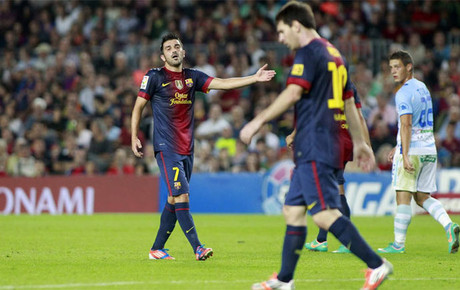 David Villa Messi Messi Blasts David Villa