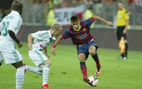 Neymar pudo disputar sus primeros minutos como jugador del Barça