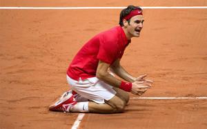 Roger Federer no pudo reprimir su emoción tras vencer a Gasquet