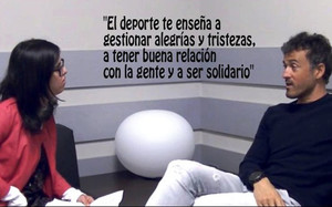 Luis Enrique concedió la primera entrevista personal