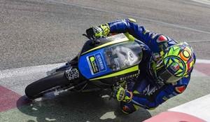 Rossi, durante su entrenamiento en Misano