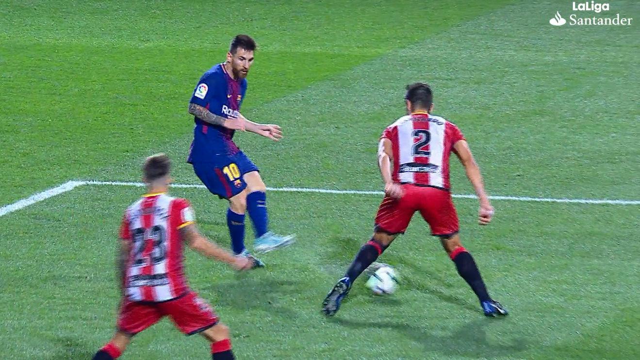 LALIGA | Girona-Barça (0-3): El pase de Messi a Denis con caño incluido