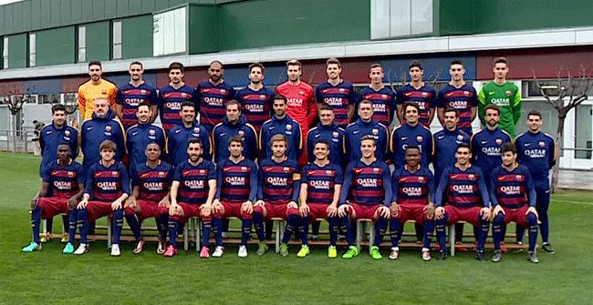 El Bar�a B se hace la foto oficial con los nuevos jugadores