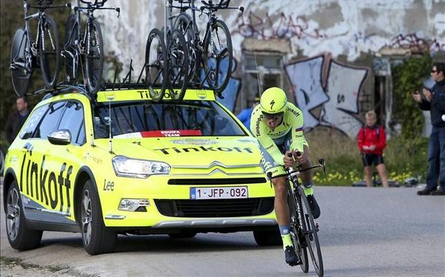 """Contador reta a Thomas y Porte en la """"Carrera del Sol"""""""