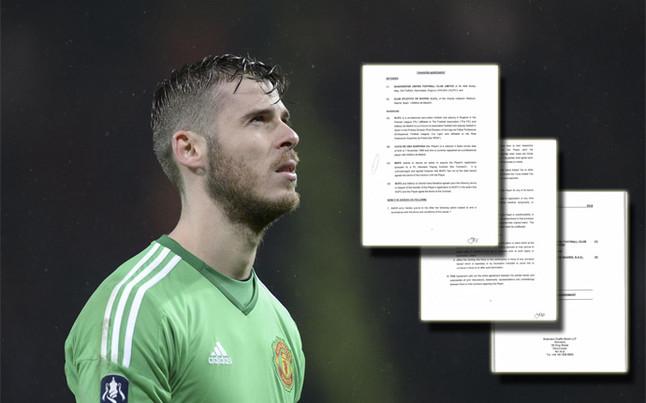 Desvelan el contrato de David de Gea con el Manchester United