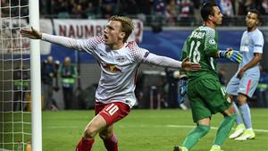 Forsberg marcó el 1-0 para el RB Leipzig