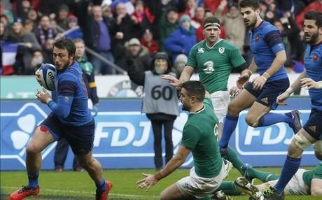 Maxime Medard logr� el �ltimo ensayo que permiti� a Francia doblegar a Irlanda