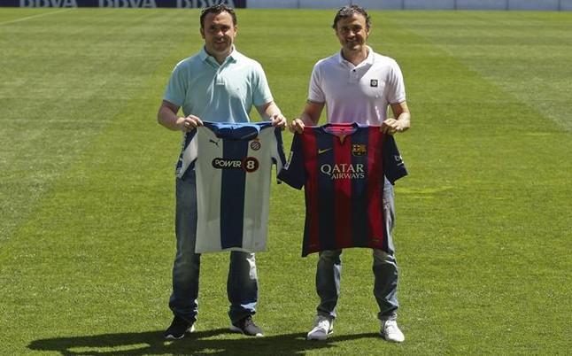 ¿Cuánto mide Luis Enrique Martínez? Sergio-luis-enrique-con-las-camisetas-1429877104173