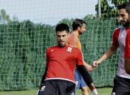 V�ctor Vald�s, durante un entrenamiento con el Middlesbrough en Marbella