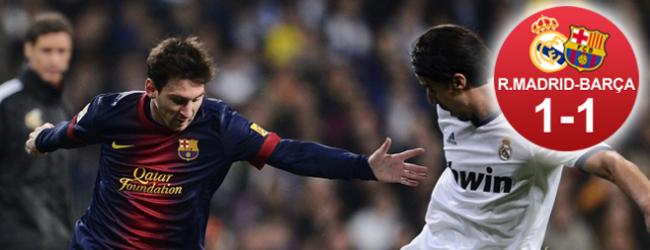 El Barça indultó al Madrid en el Bernabéu