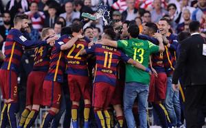 El FC Barcelona, por segunda temporada consecutiva, cantó el alirón.