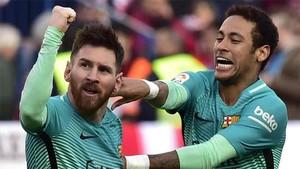 Messi y Neymar, estrellas del FC Barcelona