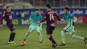 El Barcelona juega contra el Eibar