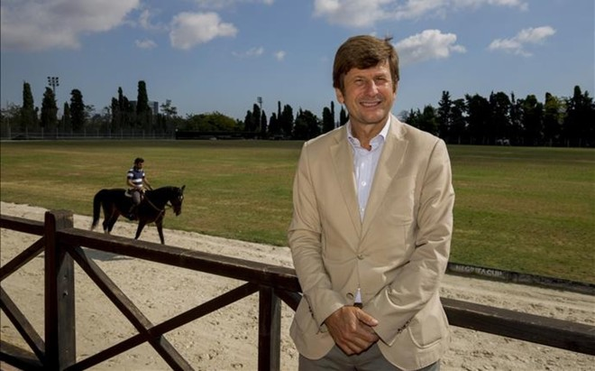 Curro Espin�s, presidente del Real Club de Polo de Barcelona
