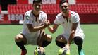 Kranevitter y Correa, presentados como nuevo jugadores del Sevilla