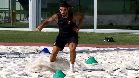 Luis Suárez ya trabaja en la arena de la Ciutat Esportiva