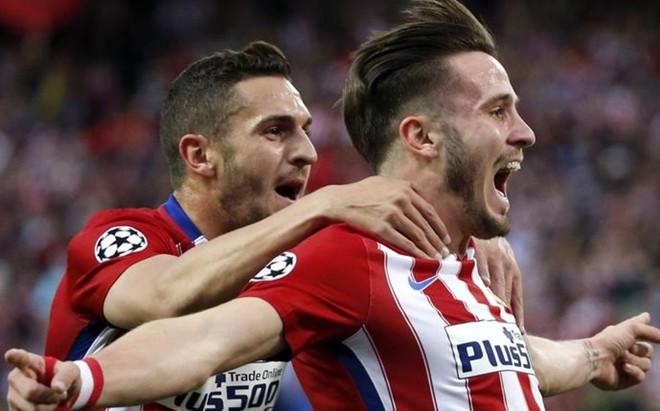Sa�l ��guez, jugador del Atl�tico de Madrid, marc� un golazo contra el Bayern