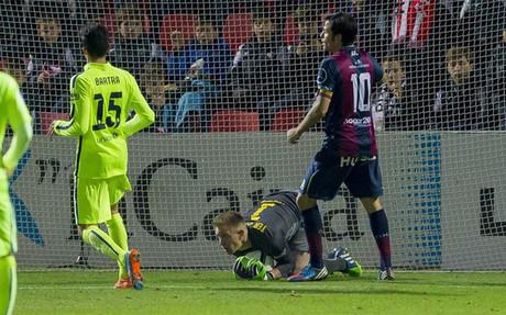 Ter Stegen, en el partido de su debut en la Copa del Rey que acaba de ganar
