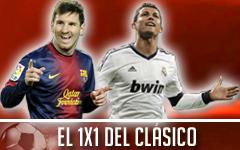 El 1x1 del Barça-Madrid