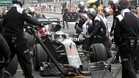 Fernando Alonso, en un pitstop