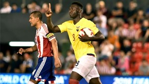 Caicedo marcó y se lesionó con Ecuador