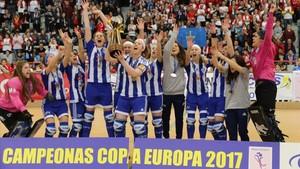 El Voltregà femenino conquistó en Gijón su quinta Copa de Europa