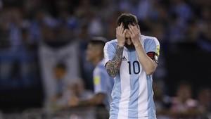 Leo Messi, abatido por la sanción