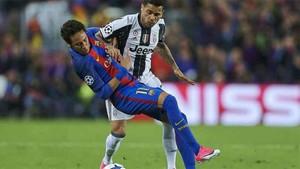 Neymar vio la amarilla ante la Juventus