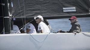 El Rey Juan Carlos I, a bordo del Bribón