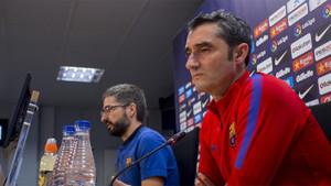 Ernesto Valverde, entrenador del FC Barcelona, ha comparecido este viernes en rueda de prensa