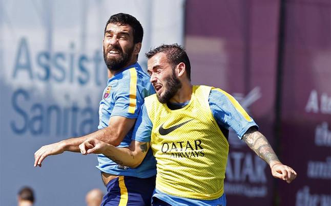 El �ltimo partido del Bar�a sin Arda Turan y Aleix Vidal