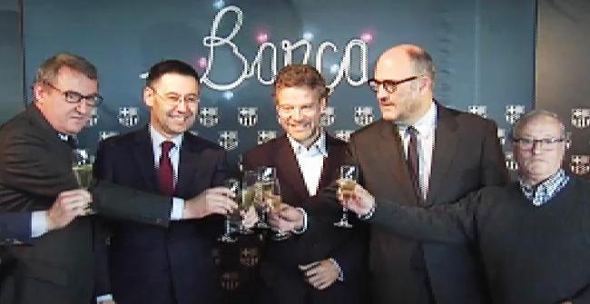 El brindis navide�o del presidente del Bar�a Josep Maria Bartomeu