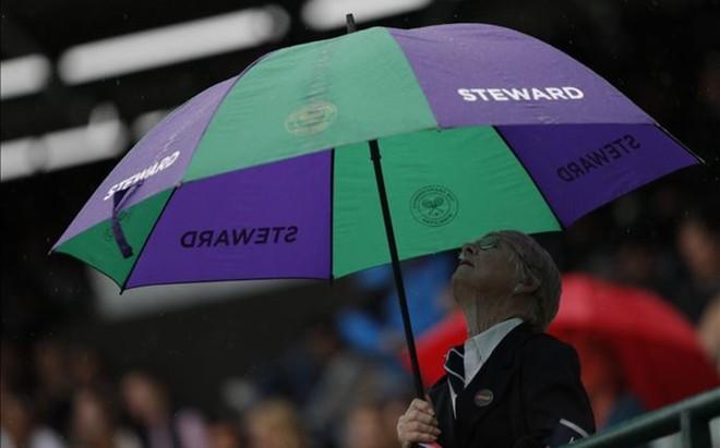 La lluvia ha impedido la conclusi�n de la segunda jornada de competici�n en Wimbledon