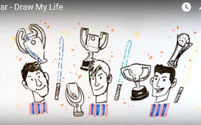 As� es la vida de Neymar en dibujos animados