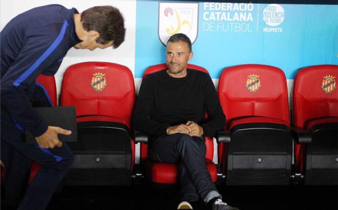 Luis Enrique, en el banquillo en la Supercopa