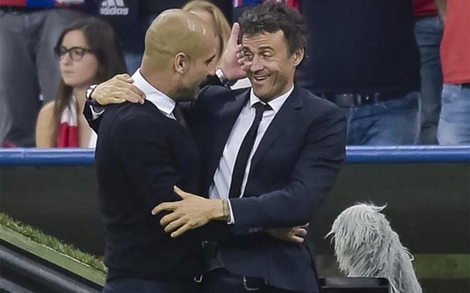 Luis Enrique sali� en defensa de Guardiola