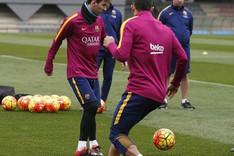 Messi vuelve a trabajar con sus compa�eros y prepara el Bar�a-Celta
