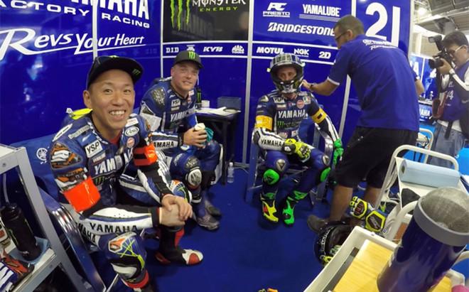 Nakasuga, Lowes y Pol Espargar�, en Suzuka