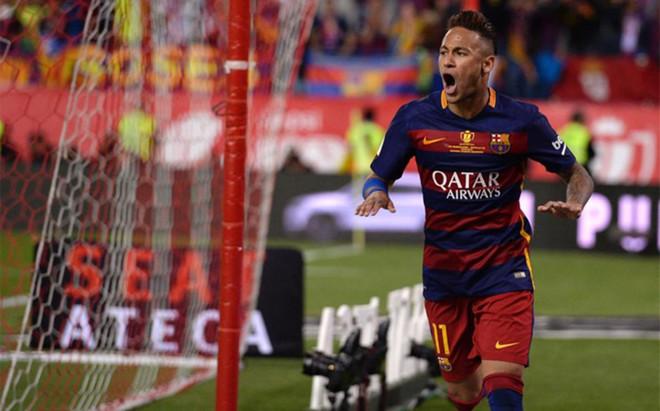 Neymar enterr� al Sevilla en la final de la Copa del Rey