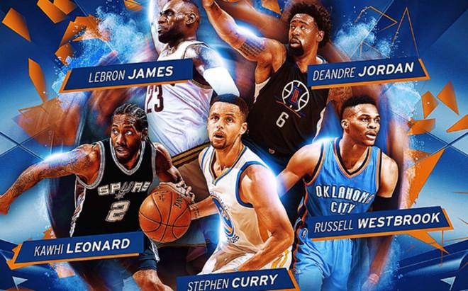 El quinteto ideal de la NBA 2015/2016